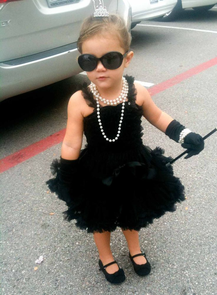 Audrey Hepburn themed kids costume | Bach party | Pinterest