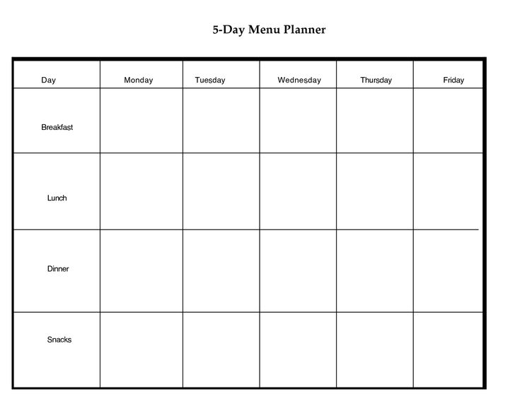 Day Weekly Planner Printable | scope of work template