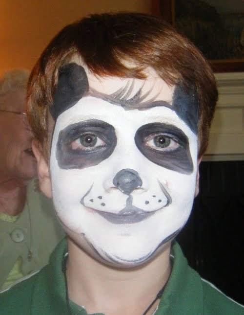 Panda face paint | face painting ideas | Pinterest