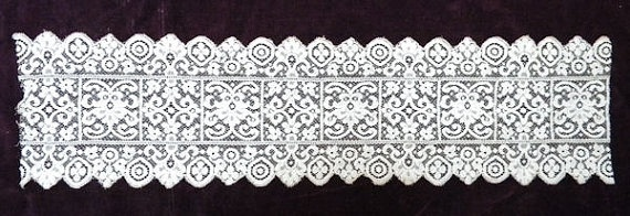 Lovely Victorian Antique French Net Vanity Lace Floral  by RuinsCa, $28.00