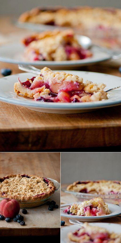 peach n blueberry pie | Summer Lovin' | Pinterest