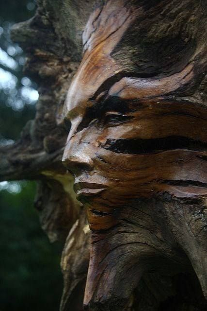 Carved face wood sculpture anything but ordinary art