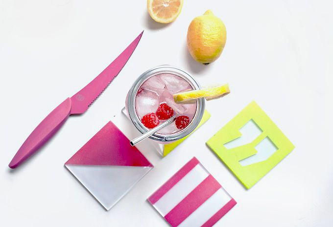 DIY COCKTAIL | Raspberry Lemonade Punch & Coasters | I SPY DIY