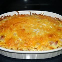 Shredded Potato Quiche Allrecipes.com made this the other day and it ...
