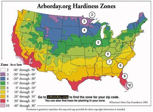 Planting Zones Map Home Garden Pinterest
