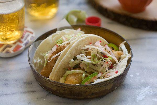 Baja-Style Fish Tacos   Fish & Seafood   Pinterest