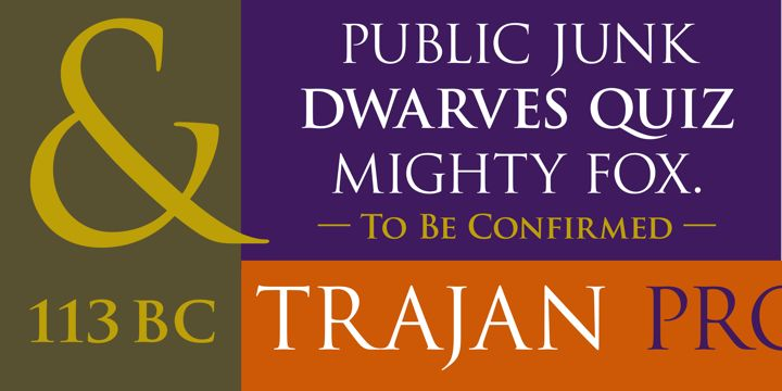 Game of Thrones Font = Trajan Pro™ -