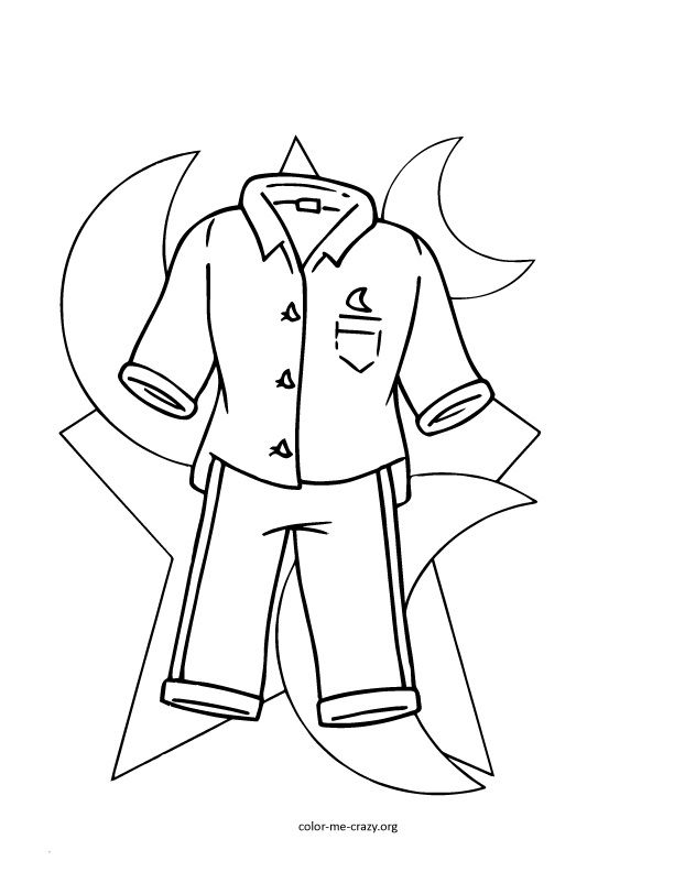 Pajama day coloring pages printables coloring pages for Pajama coloring page