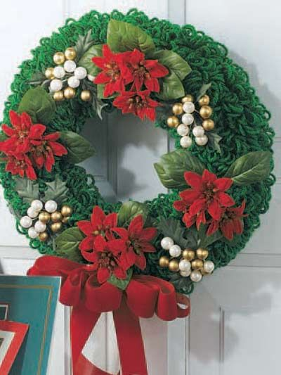 Christmas Wreath Crochet Pinterest