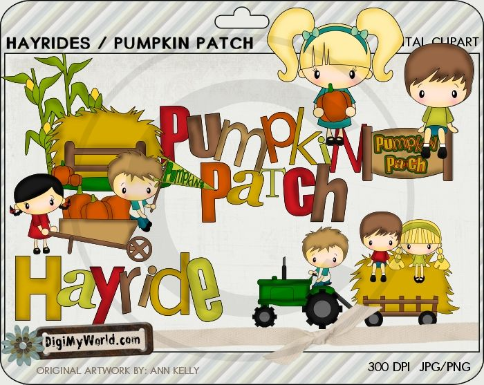 Hayrides | Fall Clip art and Digital Stamps | Pinterest
