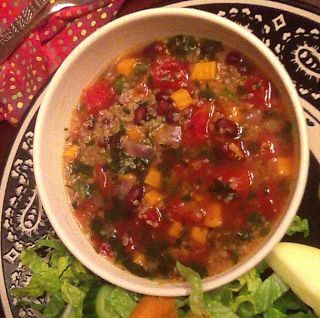 Sweet Potato & Quinoa Soup | Learning to Cook Healthy | Pinterest