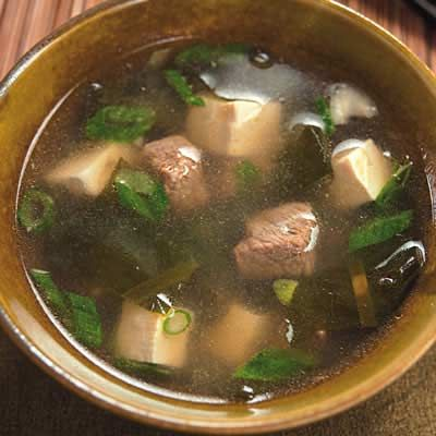 ... on vitamin-rich wakame seaweed, the same kind often used in miso soup