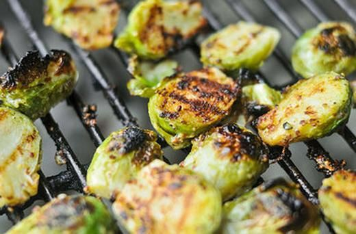 Crispy Mustard Brussels Sprouts | veg | Pinterest