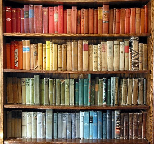 Rainbow Bookshelf Books Pinterest