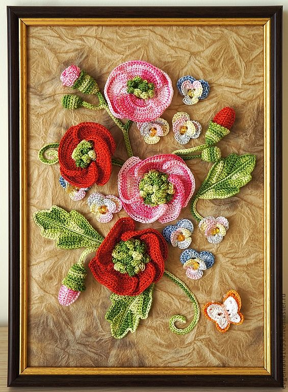 Вязание картин из цветов 930