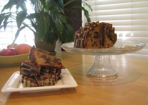 Brown sugar chocolate chip pound cake with maple glaze....decadent and ...