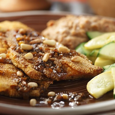 Pan-Fried Trout with Red Chile Sauce | Recipe