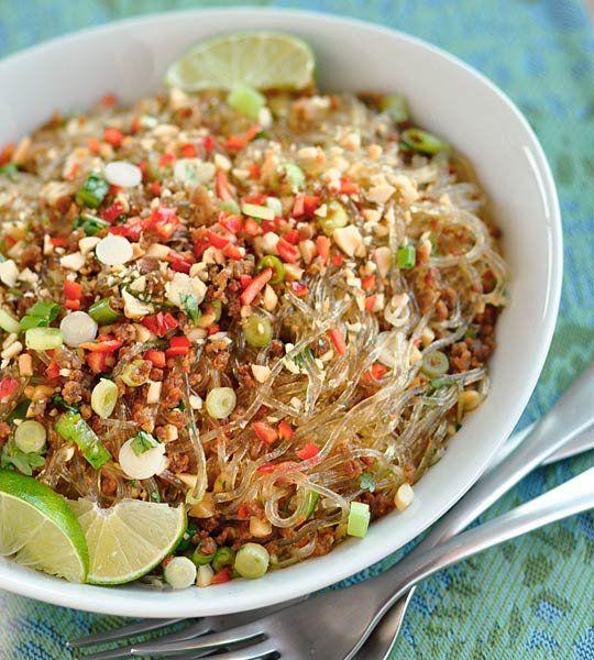 Thai Recipe: Spicy Glass Noodles with Crispy Pork (Yum Woon Sen ...
