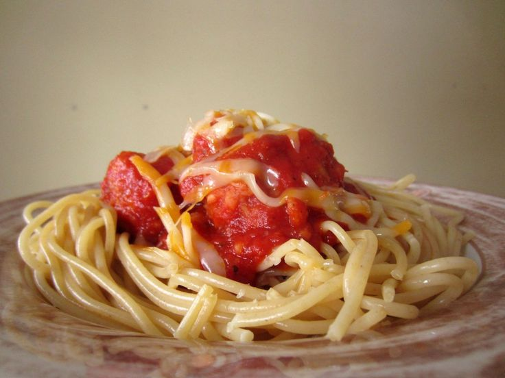"... Vegetarian Spaghetti With Cannellini Bean ""Meatballs"" And Tomato"