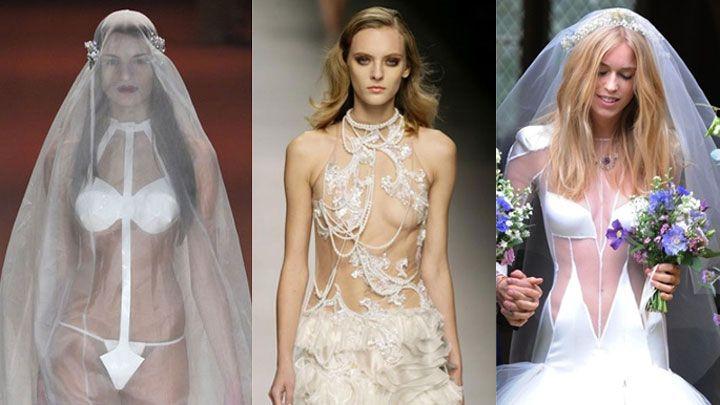 24 shockingly naked wedding looks you won 39 t believe