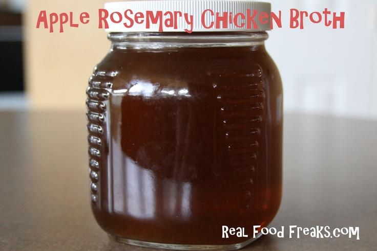 Apple Rosemary Chicken Broth title