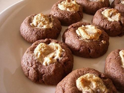 Peanut Butter Chocolate Thumbprint Cookies Recipes — Dishmaps