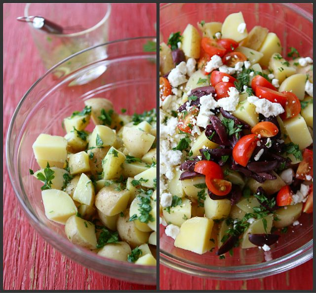 Greek Potato Salad With Feta Cheese, Kalamata Olives ...