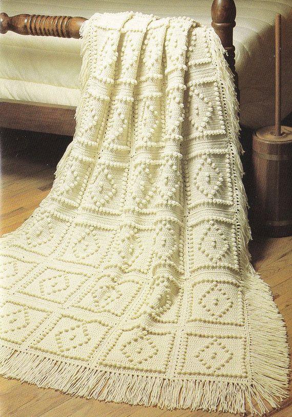 Crochet Pattern Aran Afghan : Diamond Afghan Crochet Pattern Fisherman Aran