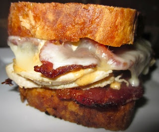 Bacon Jam BLT's with Slow Roasted Tomatoes, Fried Homemade Roasted ...