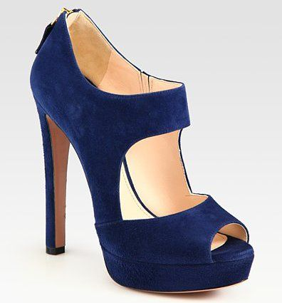 Swoon!!! Prada Suede Double Strap Platform Bootie...I need these!!