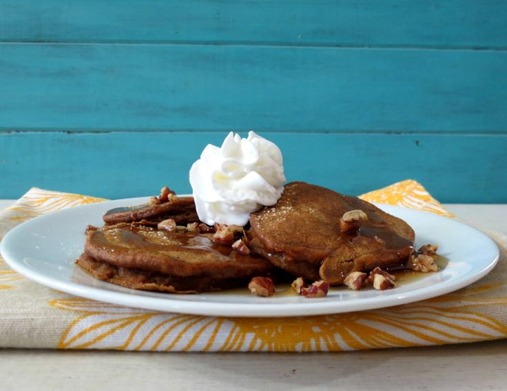 Pie Pancakes with Bourbon Maple Syrup - A light, fluffy, moist pancake ...