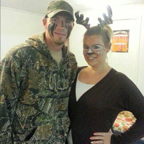 Deer makeup #halloween  Deer & Hunter Couples Costume