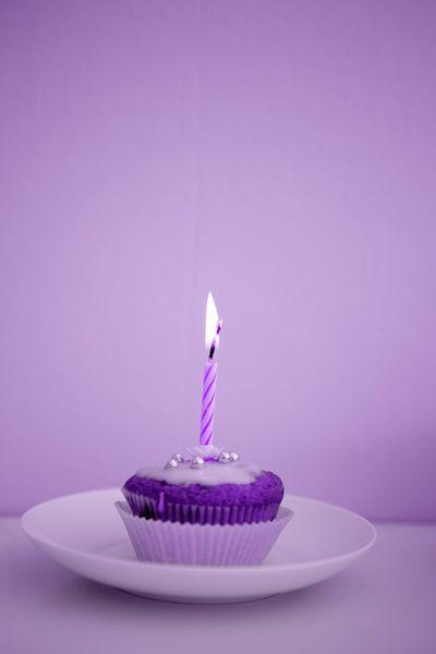 Purple birthday cupcake   PURPLE   Pinterest