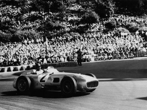 Fangio at Monaco 1955! I had the pleasure of living in Balcarce Argentina, the hometown of Fangio. They have his car museum there.