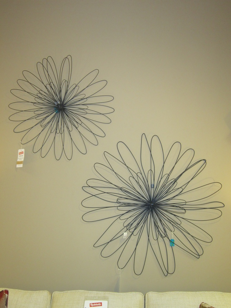 Giant Wire Wall Flowers Wall Art Pinterest