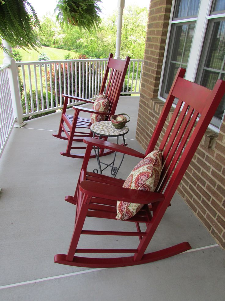 Newly painted rocking chairs  Dream Cottage  Pinterest