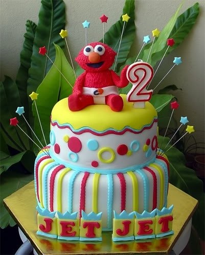 Elmo Birthday Cake Decorations : Elmo Birthday Cakes or cookie monster Party Ideas ...