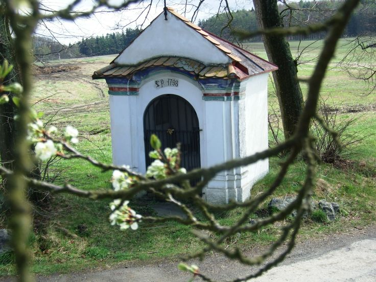 X Old chapel in a spring time (near Klatovy, west Bohemia)
