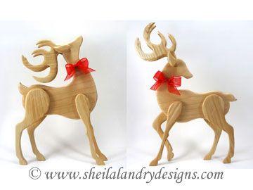 360 x 270 jpeg 13kB, ... - Standing Reindeer Set 1 | Wood cut scroll ...