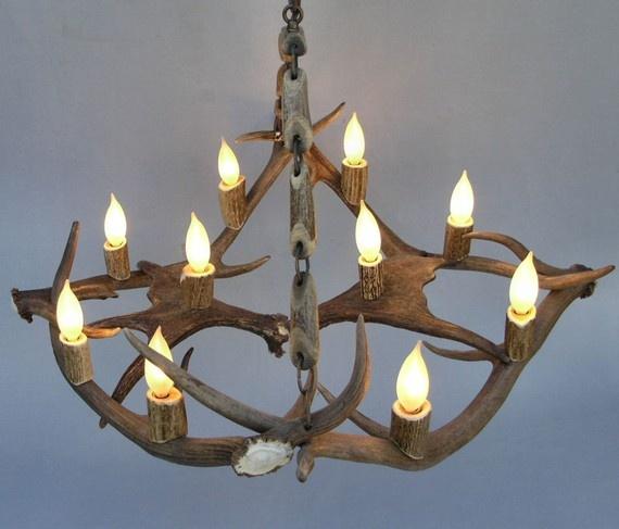 want a deer antler light fixture. Black Bedroom Furniture Sets. Home Design Ideas