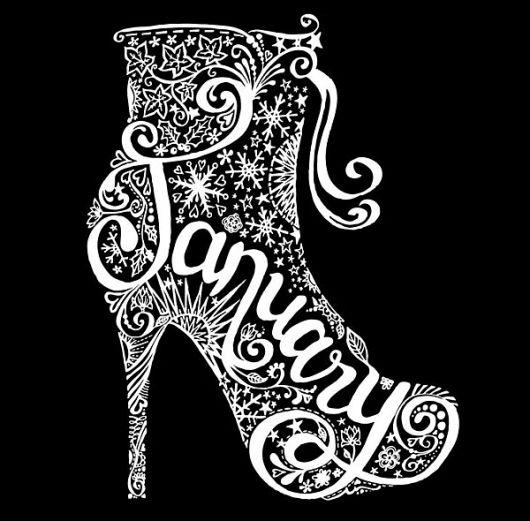 Typography ~ January ~ Boot ~ Shoe