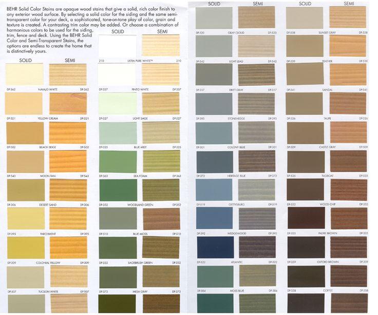 Behr Color Stains Yards Gardens Pinterest