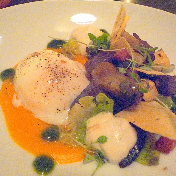 Sous Vide Eggs @ Tabla Mediterranean Bistro by chef Anthony Cafiero