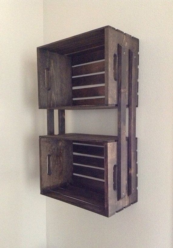 Awesome I Have Been In Love With These Cute Wooden Crates  Like The Bathroom, Apply Varnish To Your Shelf Once Its Dry, You Can Attach The Rope Start By Pulling One End In Between The Slats On The Side Of The Crate Next, Tie A Big, Chunky Knot