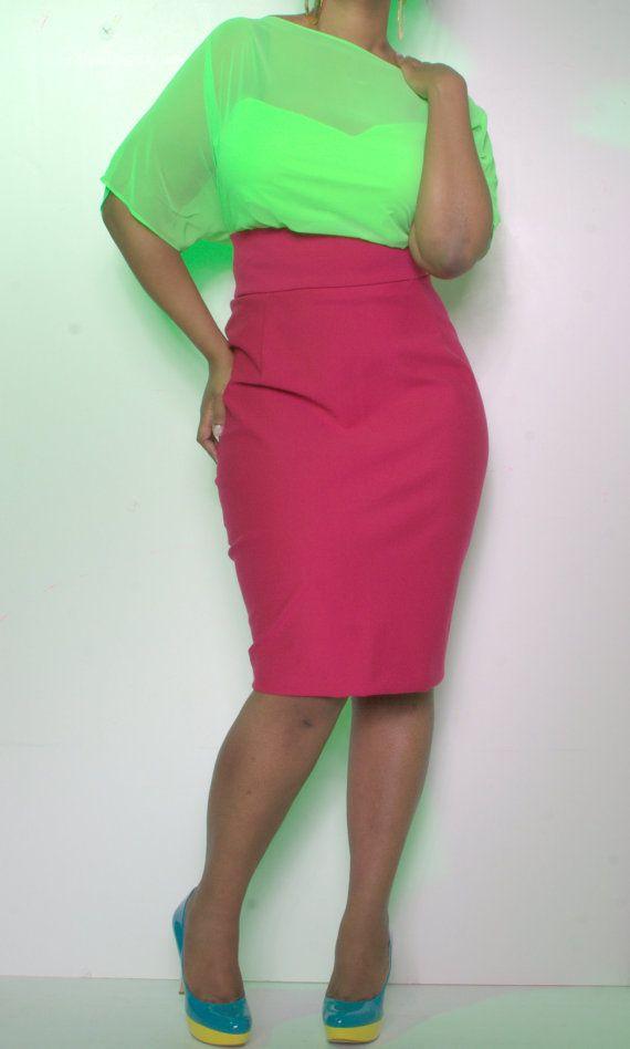 plus size high waist pencil skirt a la mode fashion