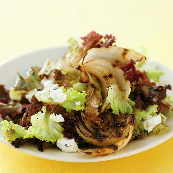 Grilled Vidalia Onion Salad Recipe - Grilled onions, salad greens ...