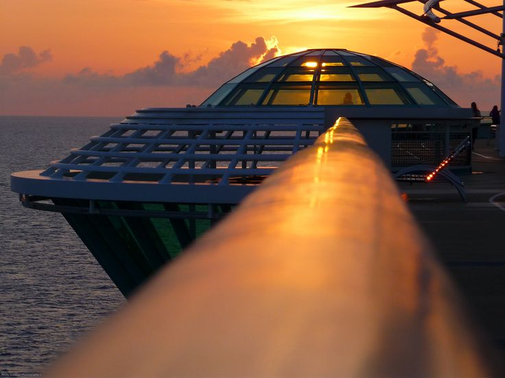 Freedom of the Seas at sunset. #cruise