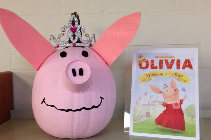 Olivia - Book Character Pumpkin (Pumpkin Painting 2013)