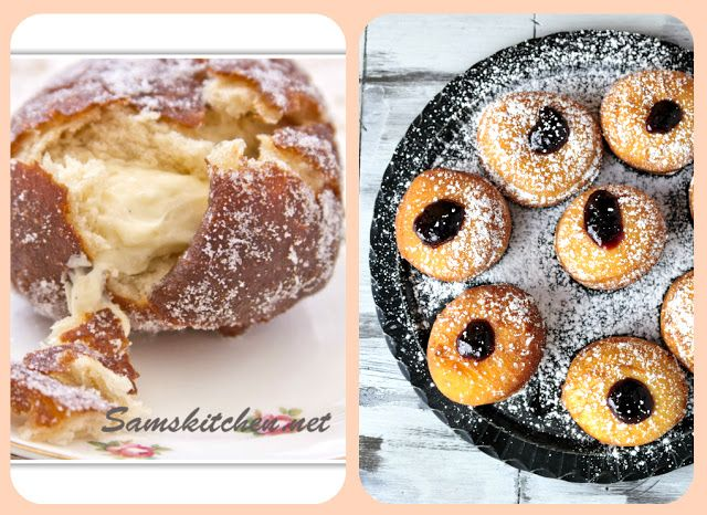 Haniela's: Carnival Vanilla Doughnuts with Raspberry Jam