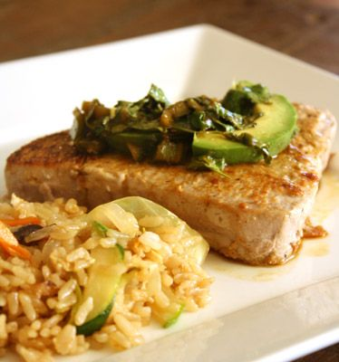Pan-Seared Tuna with Avocado, Soy, Ginger, and Lime on FabFitFun.com